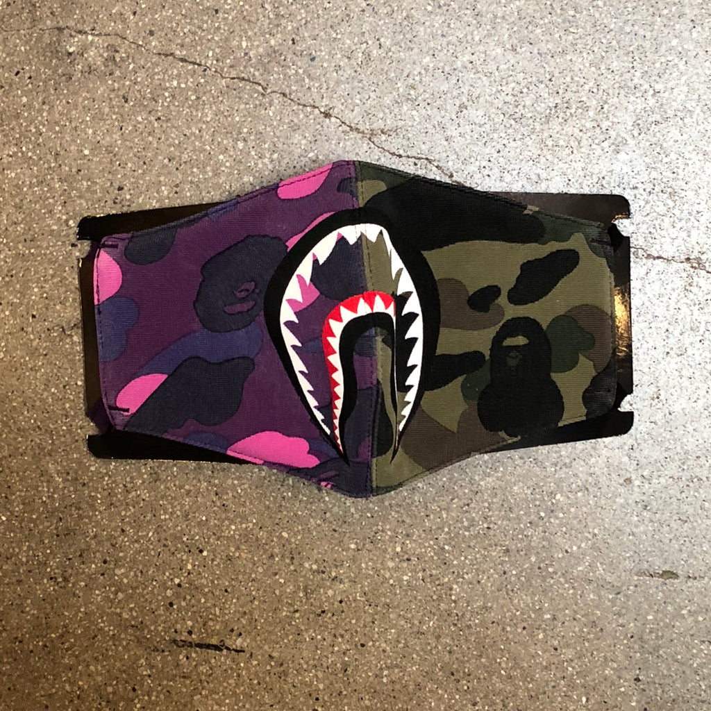 Mix Camo Shark Mask Purple/Green