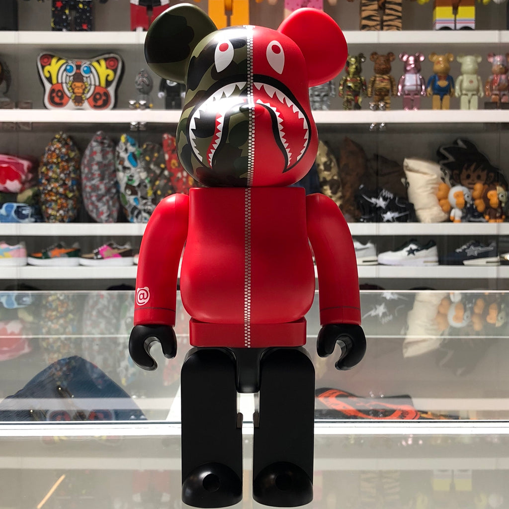 Bape 1st Camo Shark 400% Bearbrick Red - Exhibit A