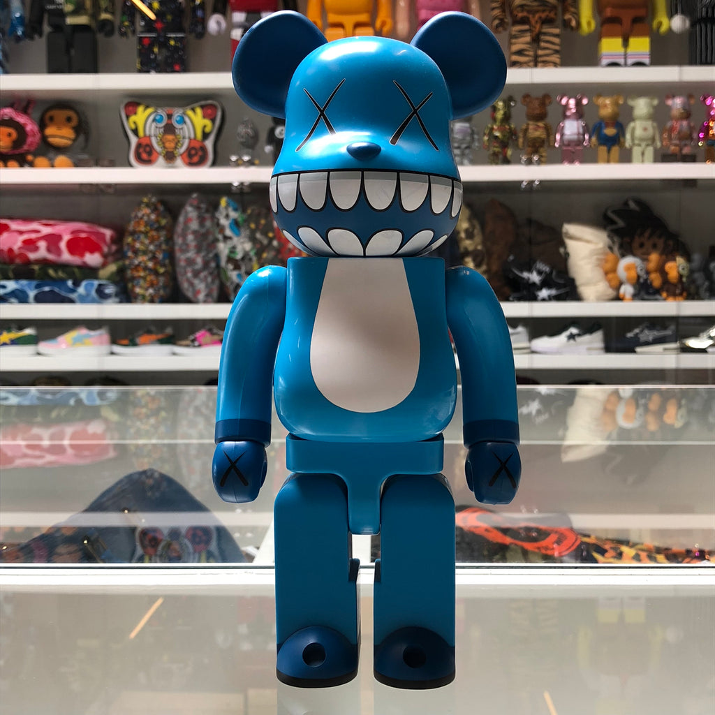 KAWS Chomper 400% 100% Set Bearbrick Blue - Exhibit A