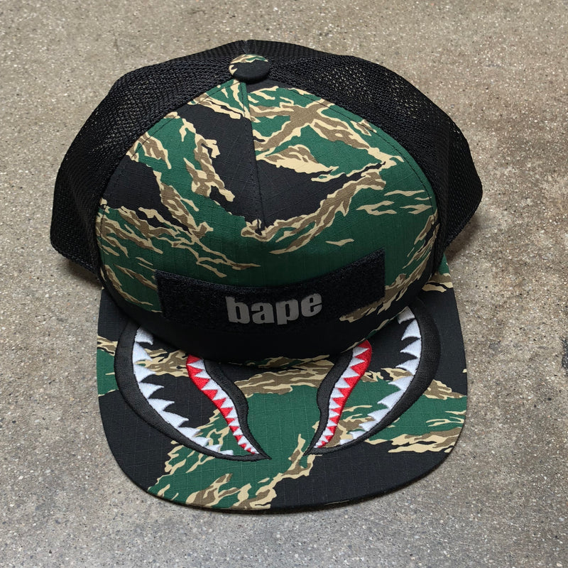 Bape Tiger Camo Shark Cap Green - Exhibit A