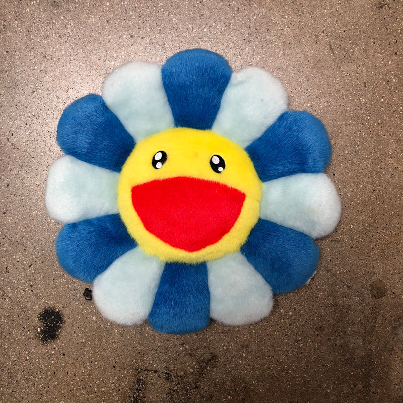 Takashi Murakami Flower Pillow 30cm Yellow/Blue - Exhibit A