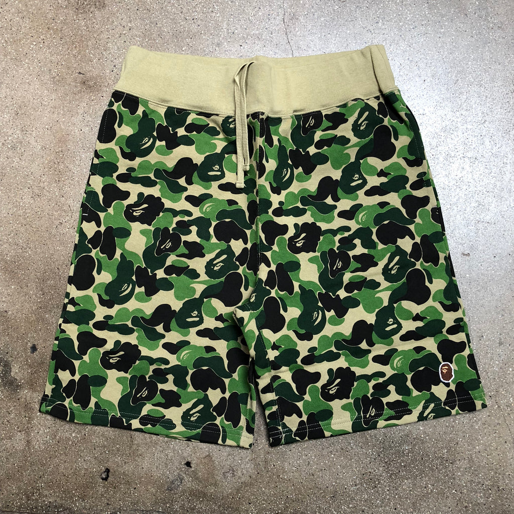 Bape ABC Camo One Point Sweat Shorts Green - Exhibit A