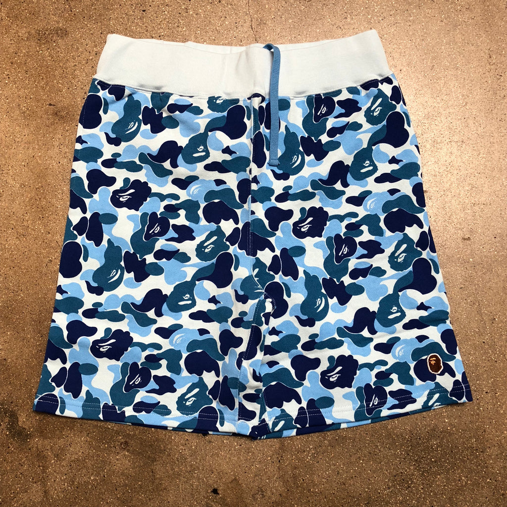 Bape ABC Camo One Point Sweat Shorts Blue - Exhibit A