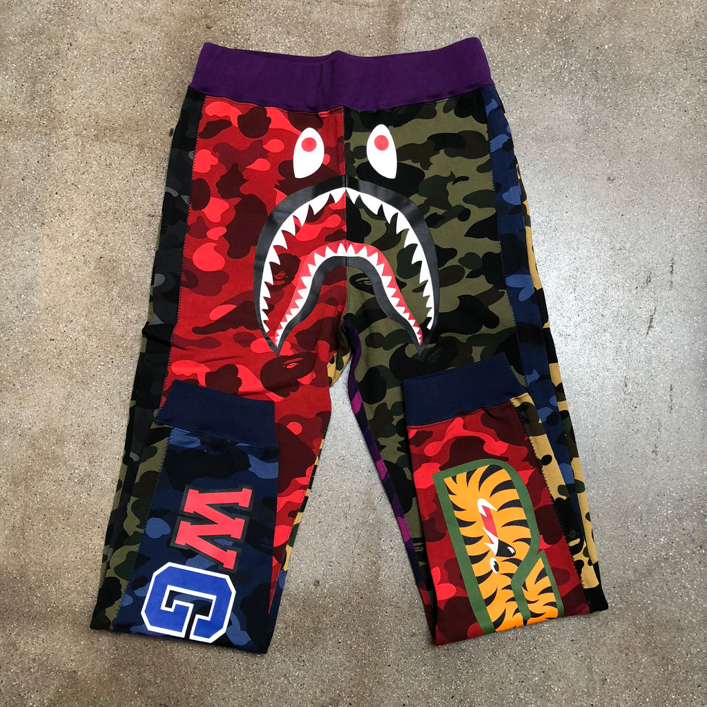 Bape Mix Camo Shark Slim Sweat Pants - Exhibit A