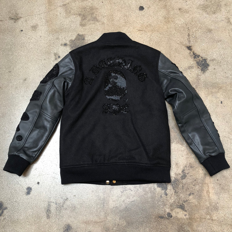 Bape Black Label Swarovski College Bomber Jacket - Exhibit A