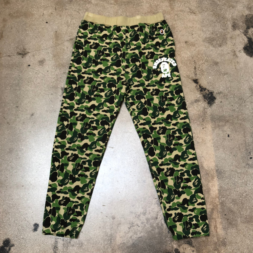 Bape ABC Camo Undefeated Slim Sweat Pants Green - Exhibit A