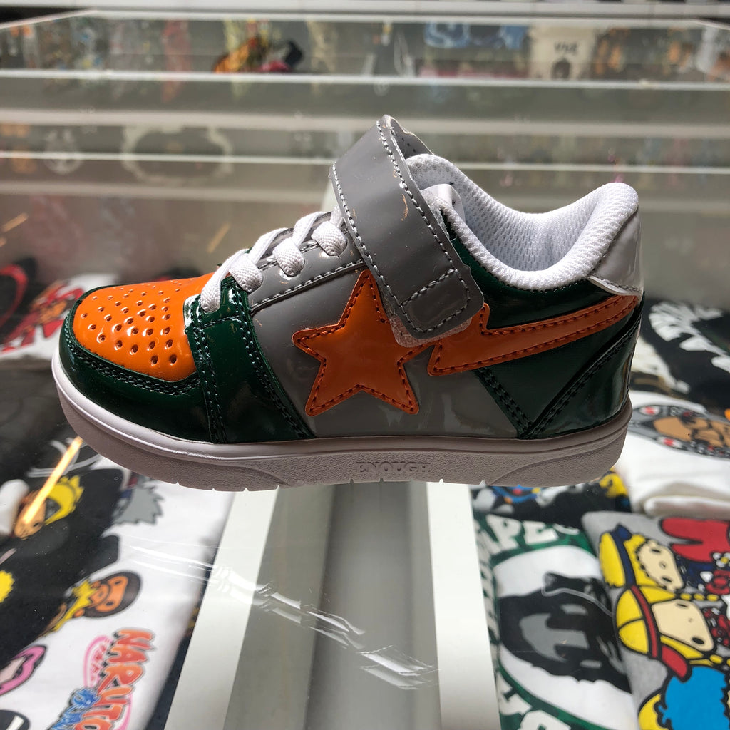 Bape Kids Bapesta Grey/Orange/Green - Exhibit A