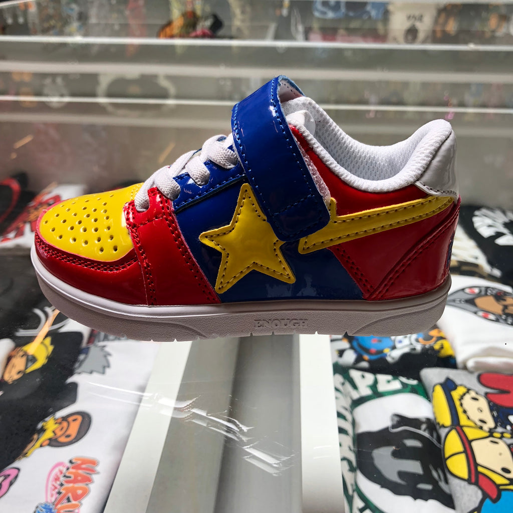 Bape Kids Bapesta Blue/Yellow/Red - Exhibit A