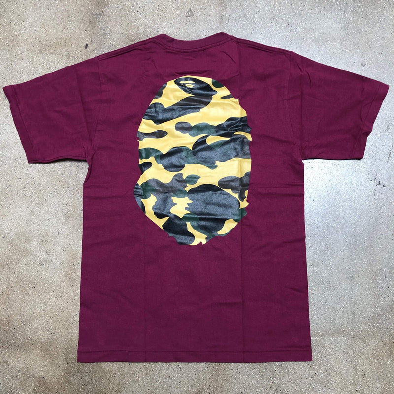 1st Camo Ape Head Tee Burgundy/Yellow - Exhibit A
