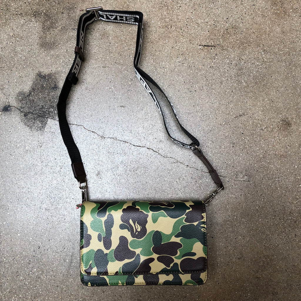 Ladies ABC Camo Shoulder Bag Green - Exhibit A