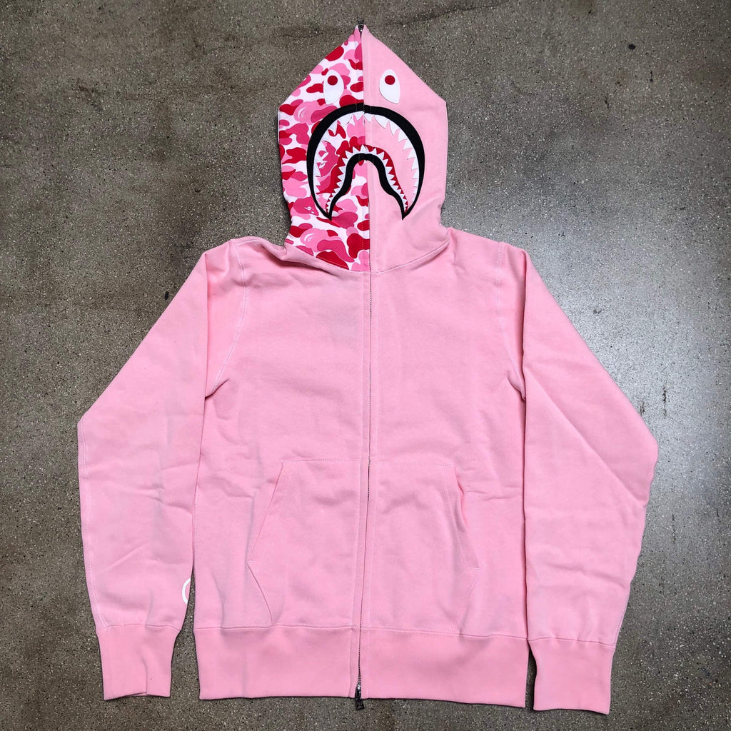 ABC Camo Hood Shark Hoodie Pink - Exhibit A