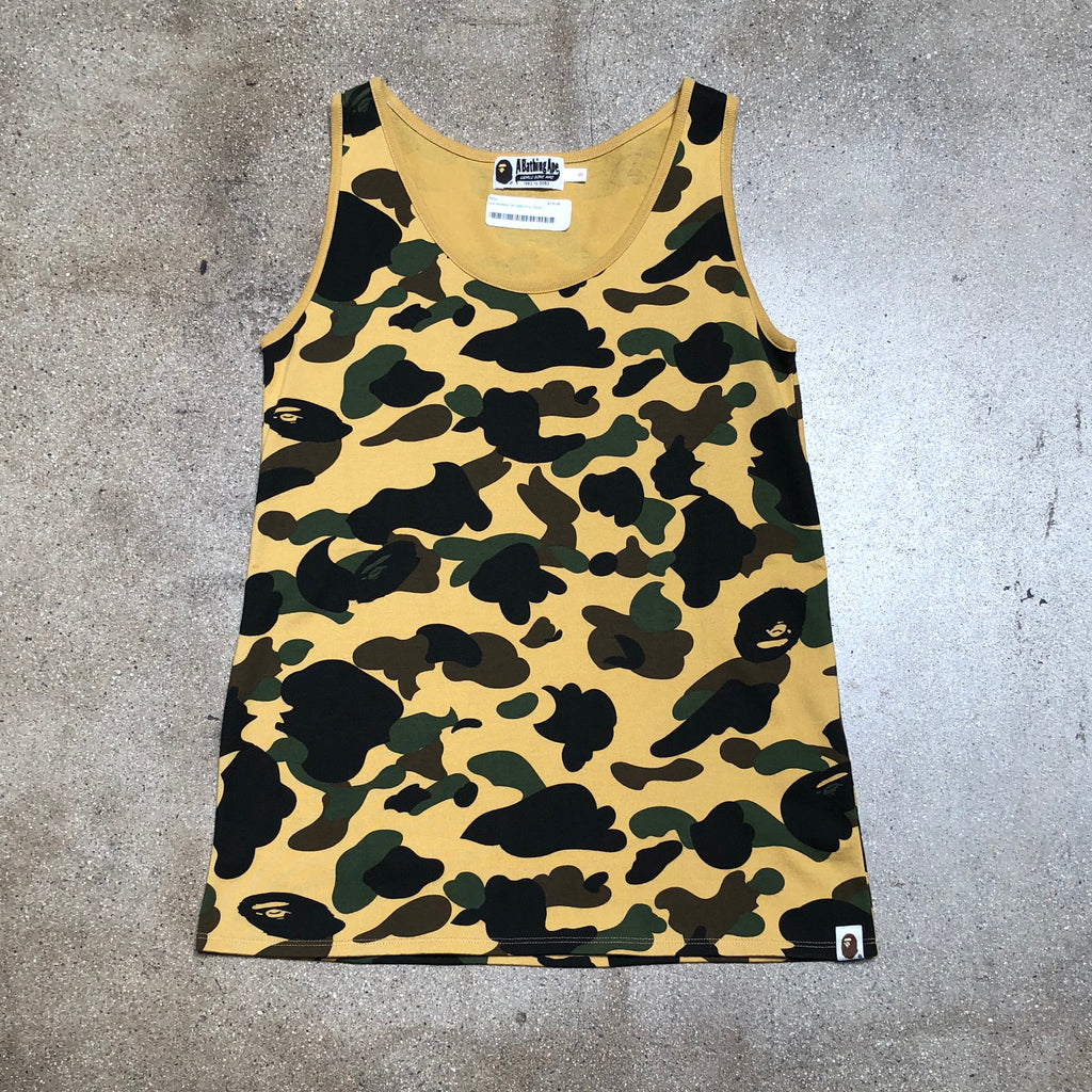 Bape Ladies 1st Camo Tank Top Yellow - Exhibit A
