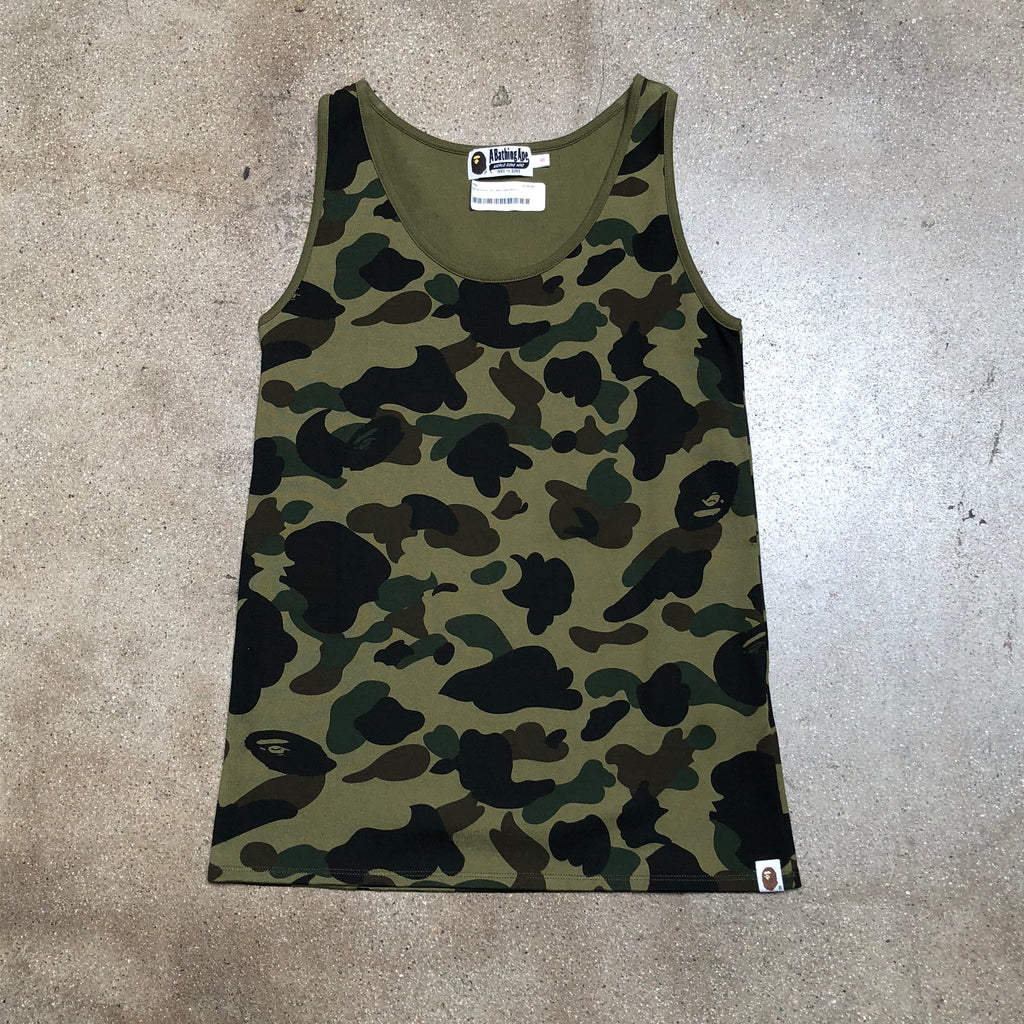 Bape Ladies 1st Camo Tank Top Green - Exhibit A