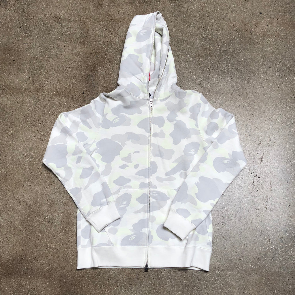 Bape Ladies City Camo Zip Hoodie White - Exhibit A