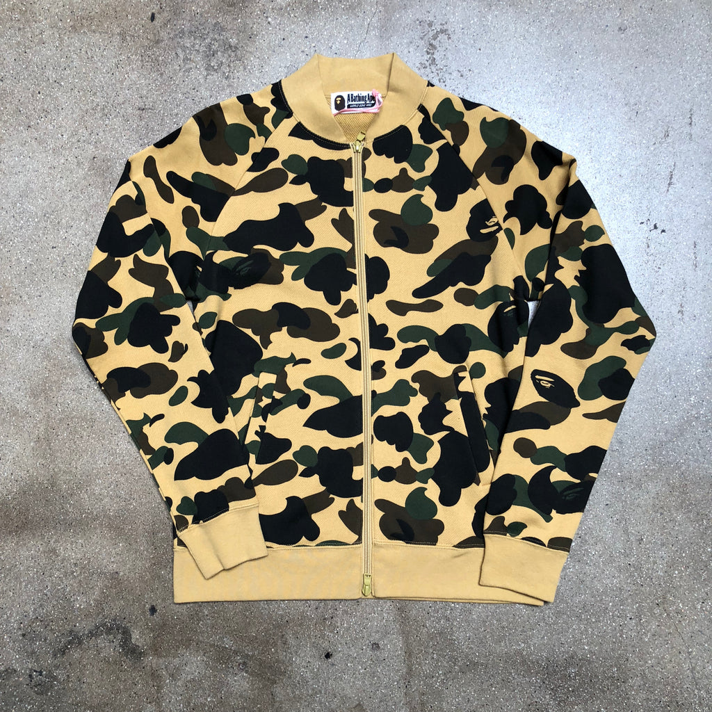 Bape Ladies 1st Camo Fleece Zip Jacket Yellow - Exhibit A
