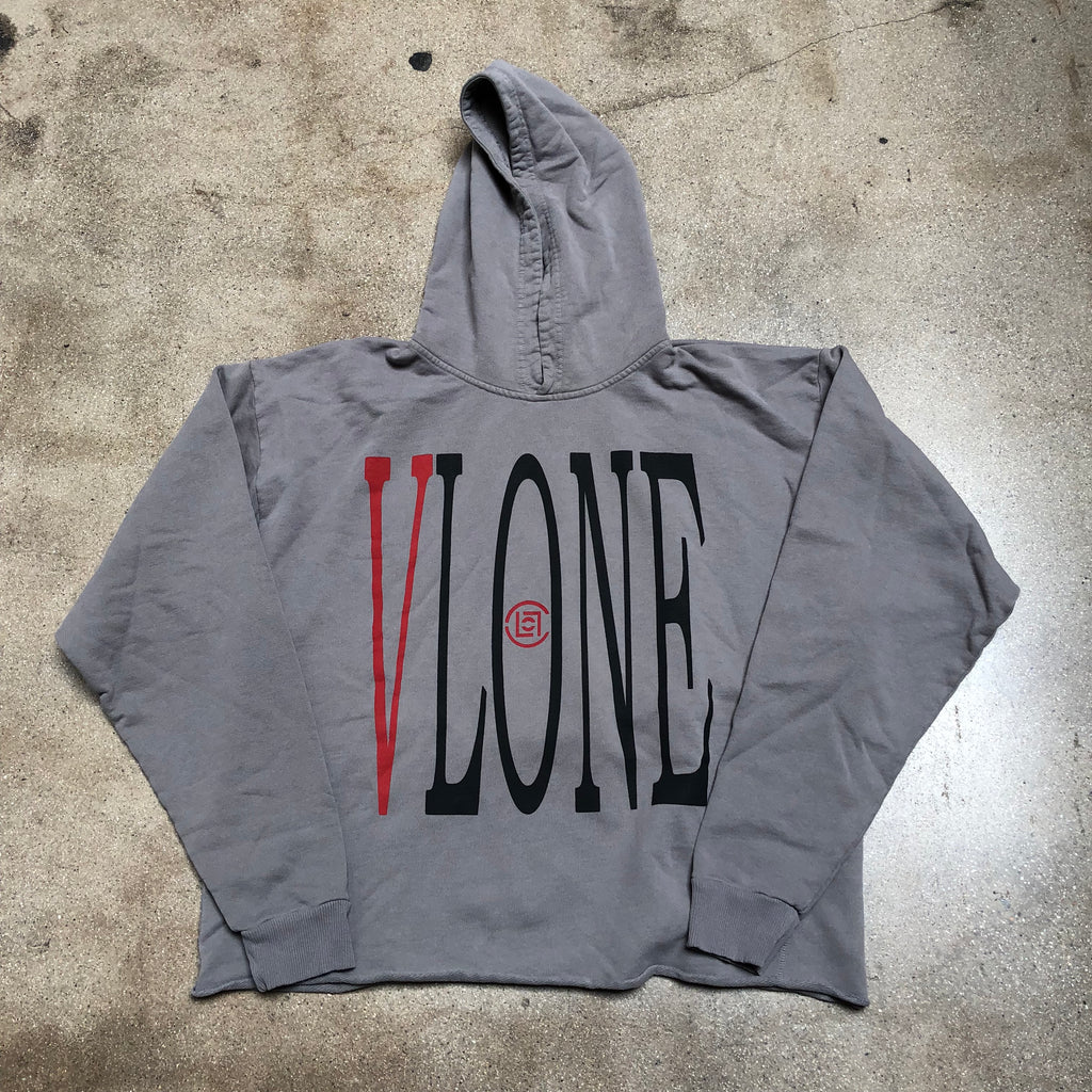 VLONE x Clot Dragon Pullover Hoodie Grey
