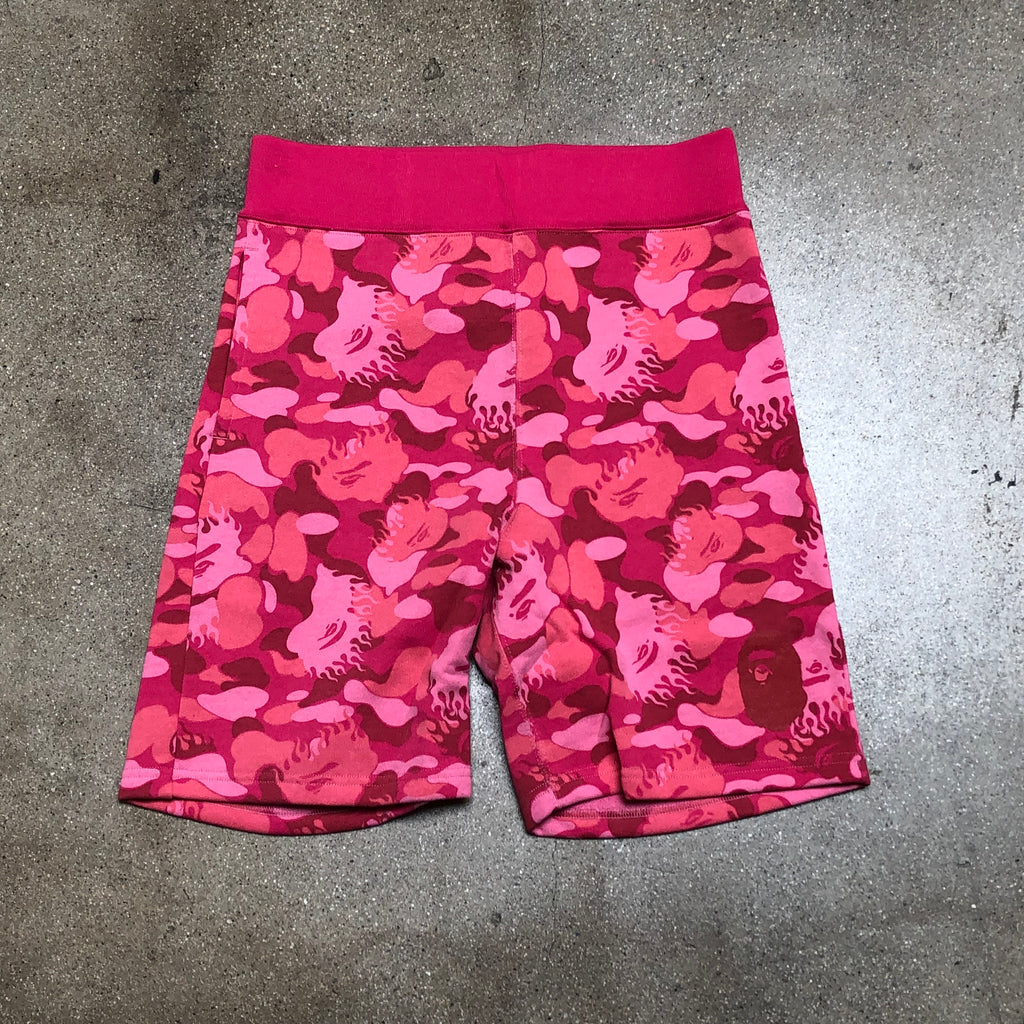 Fire Camo Sweat Shorts Pink - Exhibit A