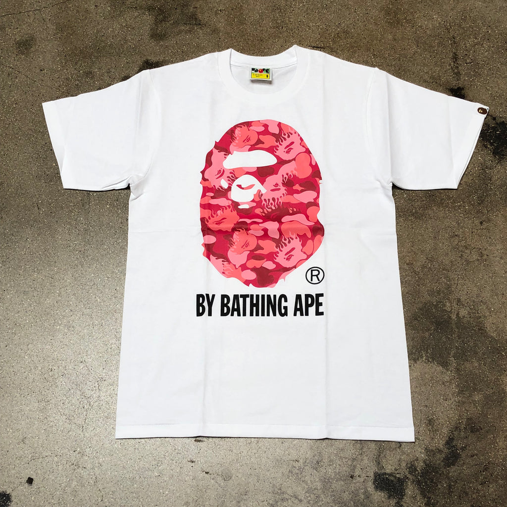 Fire Camo By Bathing Tee White/Pink