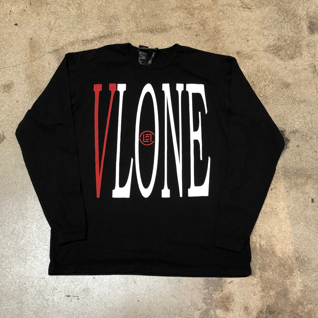 VLONE x CLOT Staple Long Sleeve Black/Red - Exhibit A