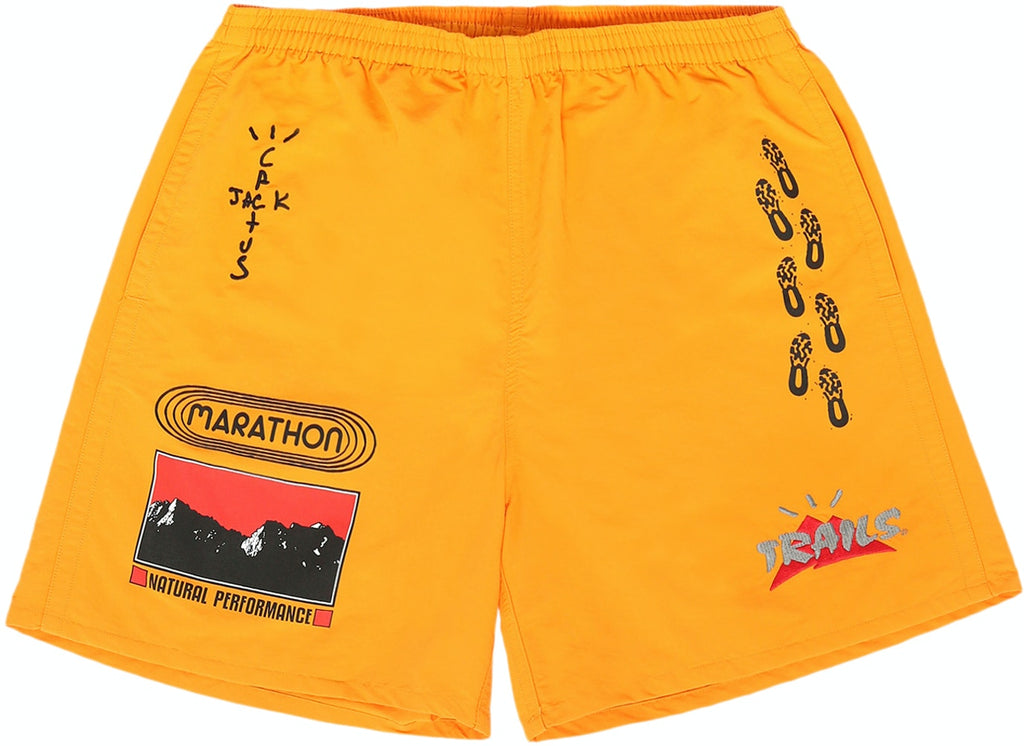 Travis Scott Path Shorts Gold