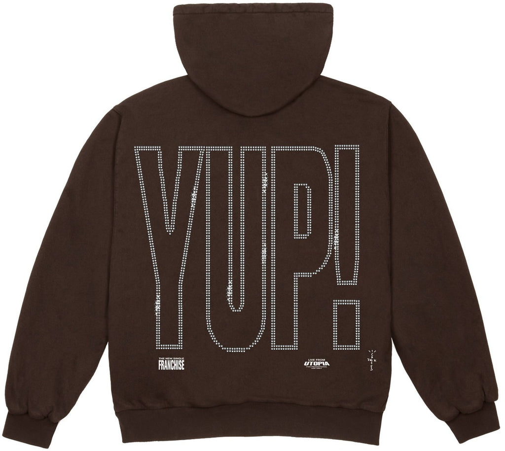 Travis Scott YUP! Hoodie Brown