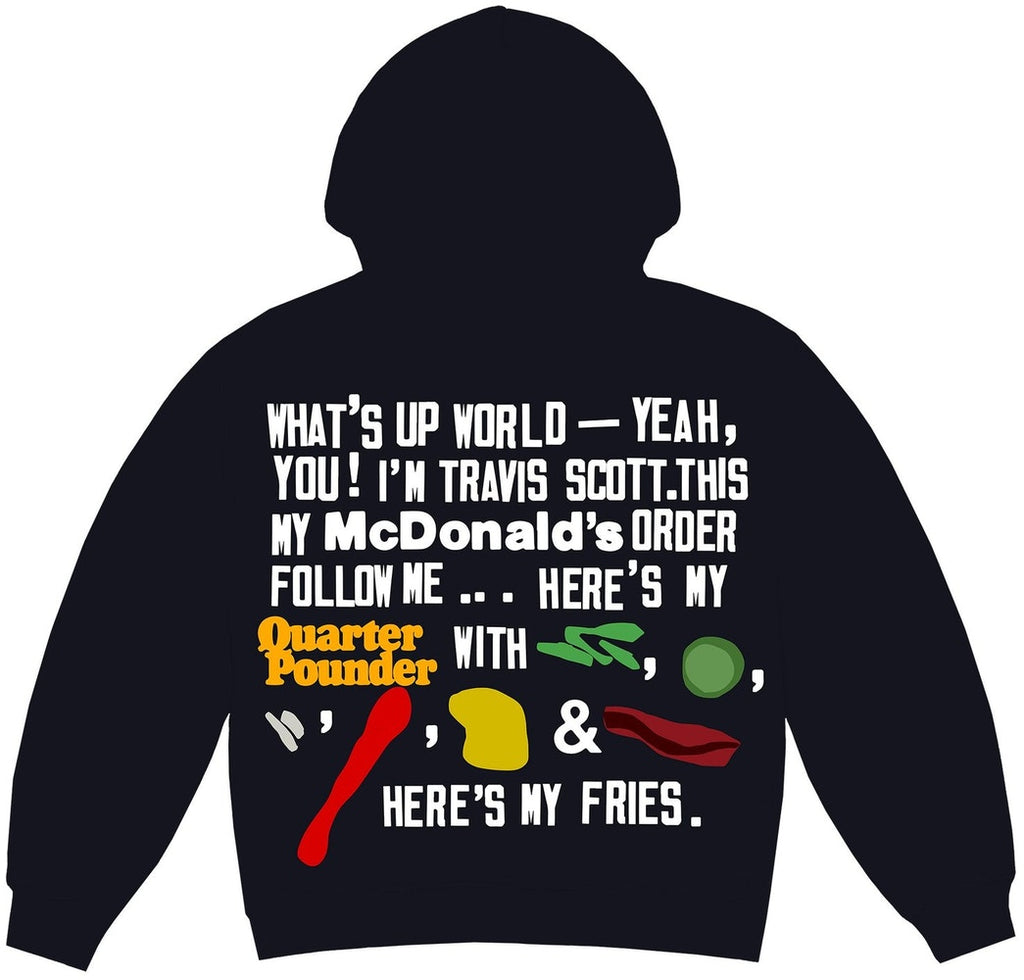 Travis Scott x CPFM 4 CJ Script Hoodie Black