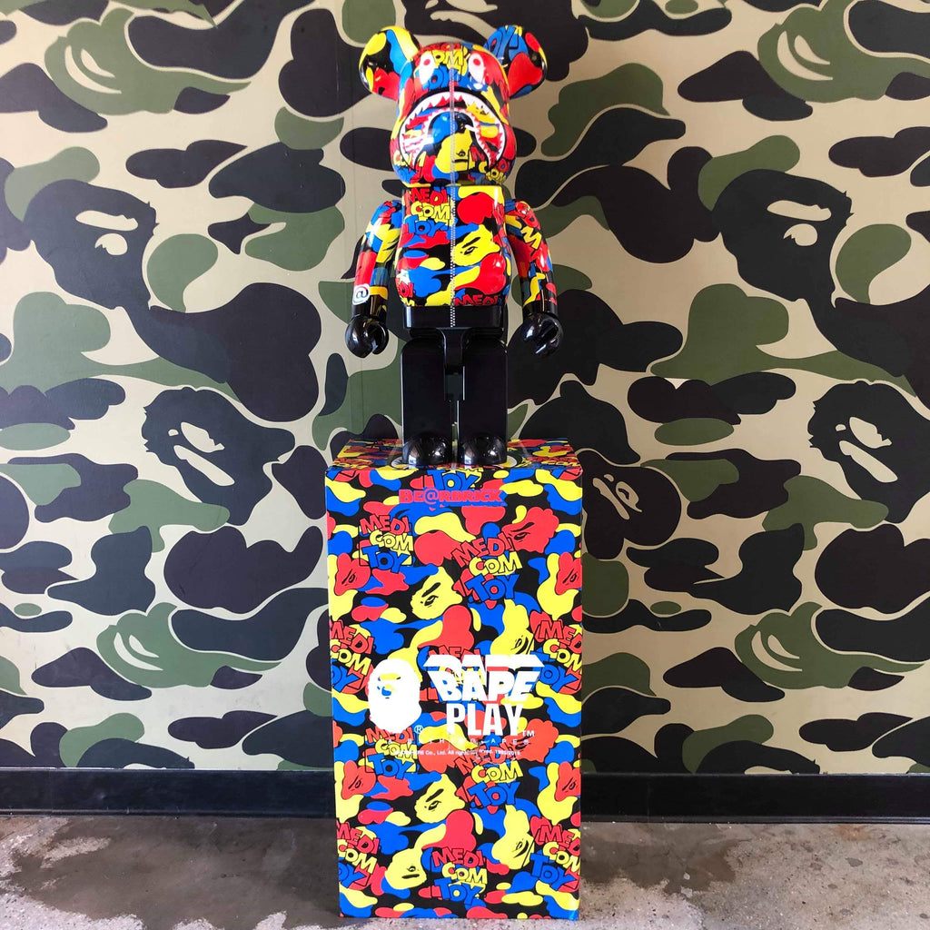 Bape Multi Camo Shark 1000% Bearbrick - Exhibit A