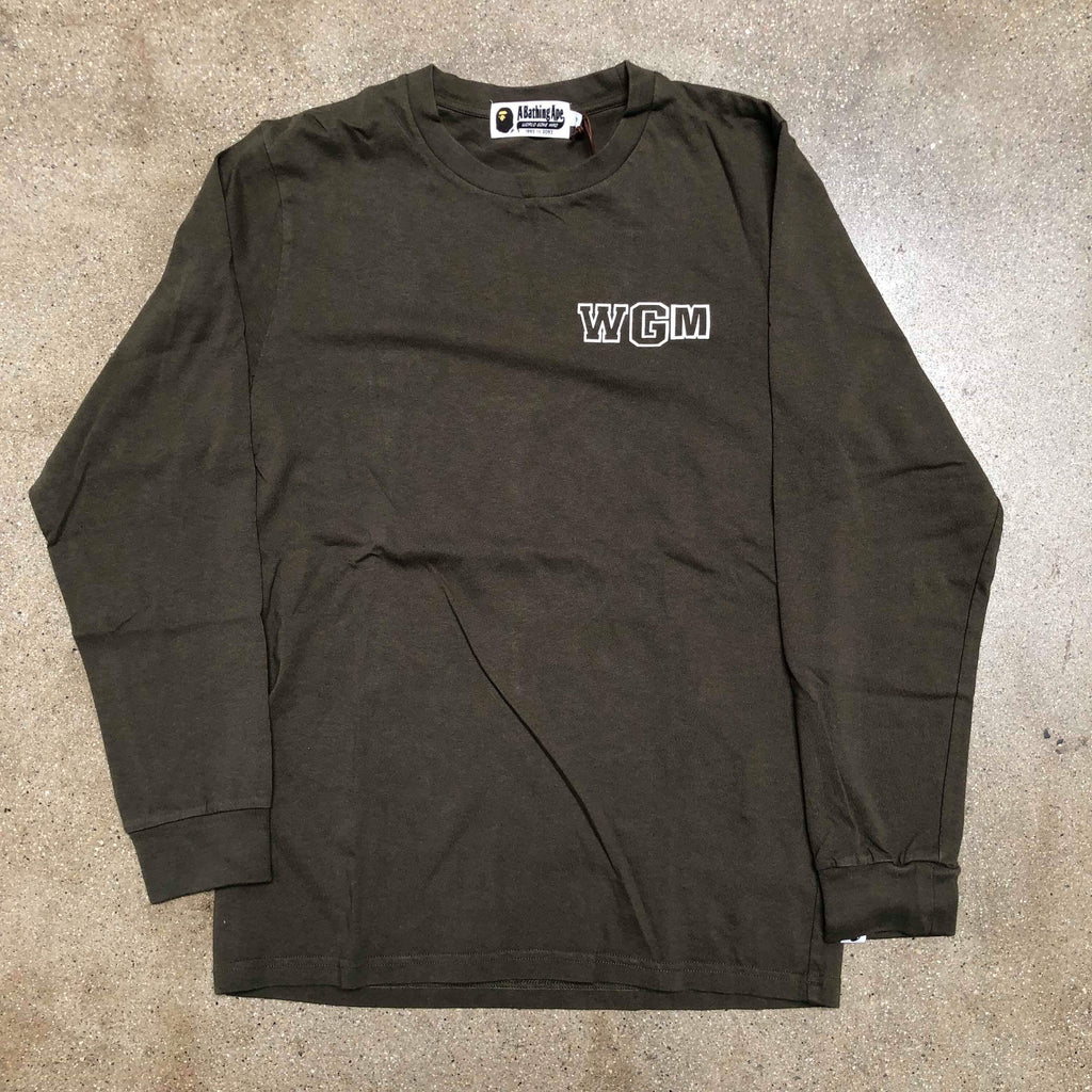 Bape WGM Shark Long Sleeve Olive