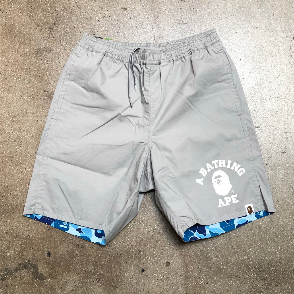 Bape ABC Reversible Beach Shorts Grey/Blue - Exhibit A