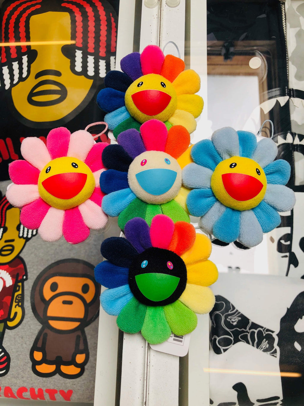 Takashi Murakami Flower Plush Pin Set Of 5