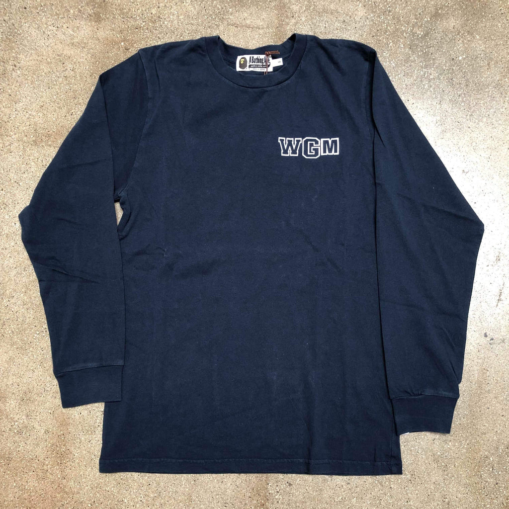 Bape WGM Shark Long Sleeve Navy
