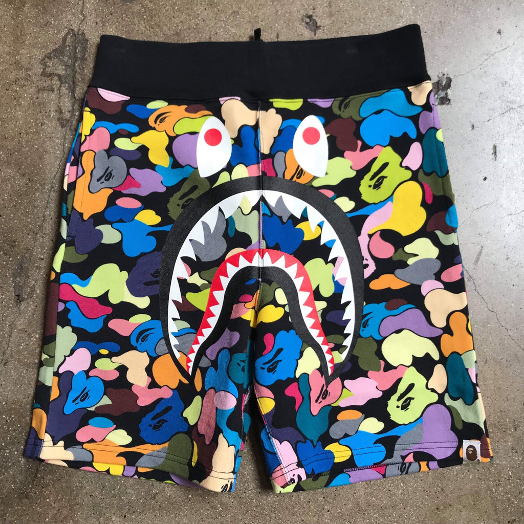 Multi Camo Shark Shorts Black - Exhibit A