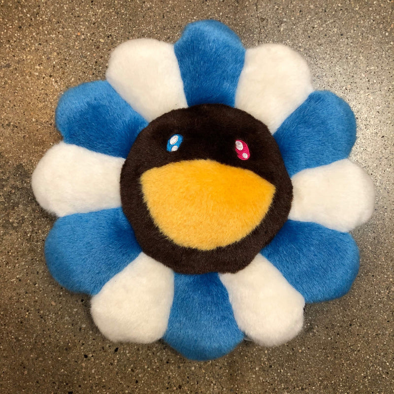 Takashi Murakami Flower Pillow 30cm Blue/Brown - Exhibit A