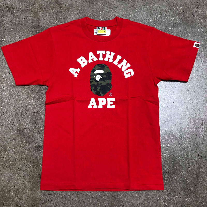 Bape 1st Camo College Tee Red/Green - Exhibit A