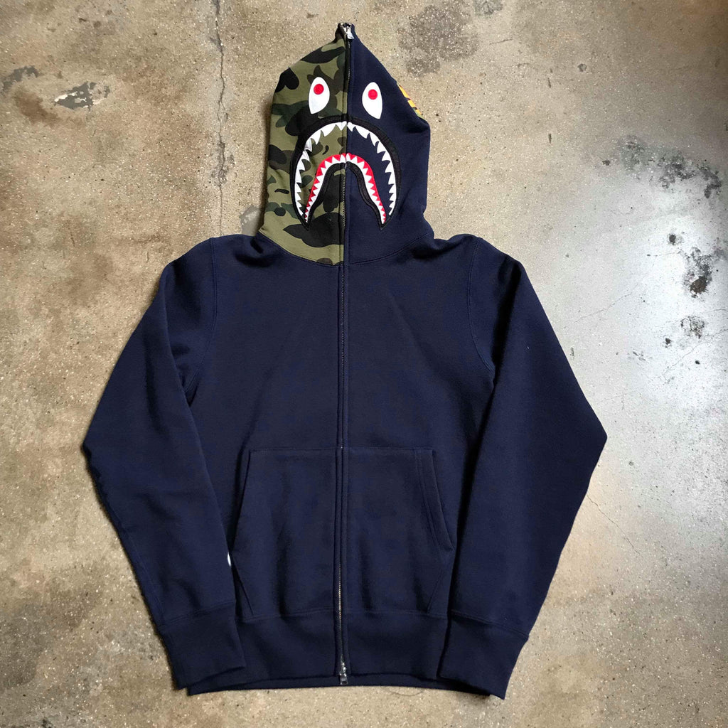 Bape Shark Hoody Navy - Exhibit A