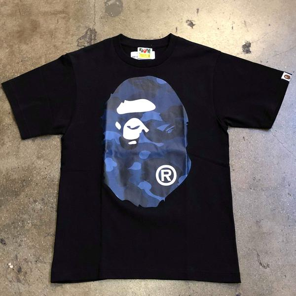 Bape Color Camo Big Ape Head Tee Black/Navy - Exhibit A