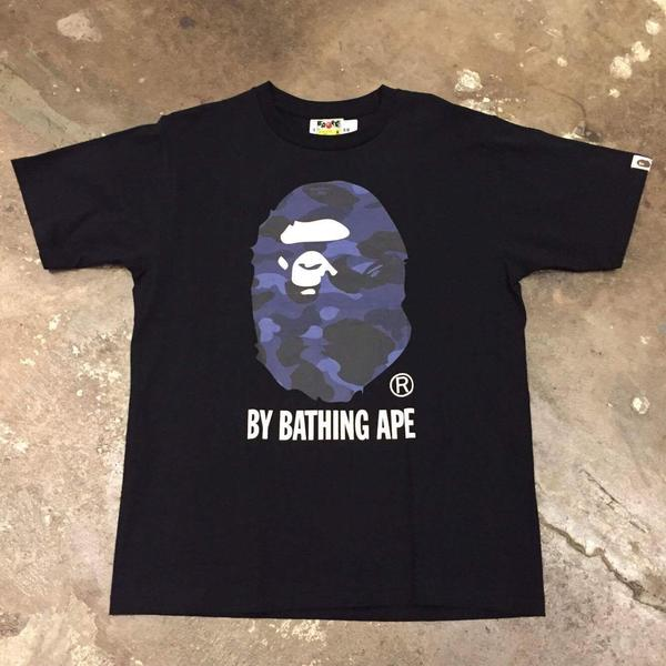 Bape Color Camo By Bathing Tee Black/Blue - Exhibit A