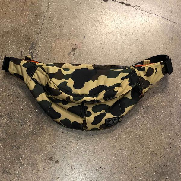 Bape x Porter 1st Camo Waist Bag Small Yellow - Exhibit A