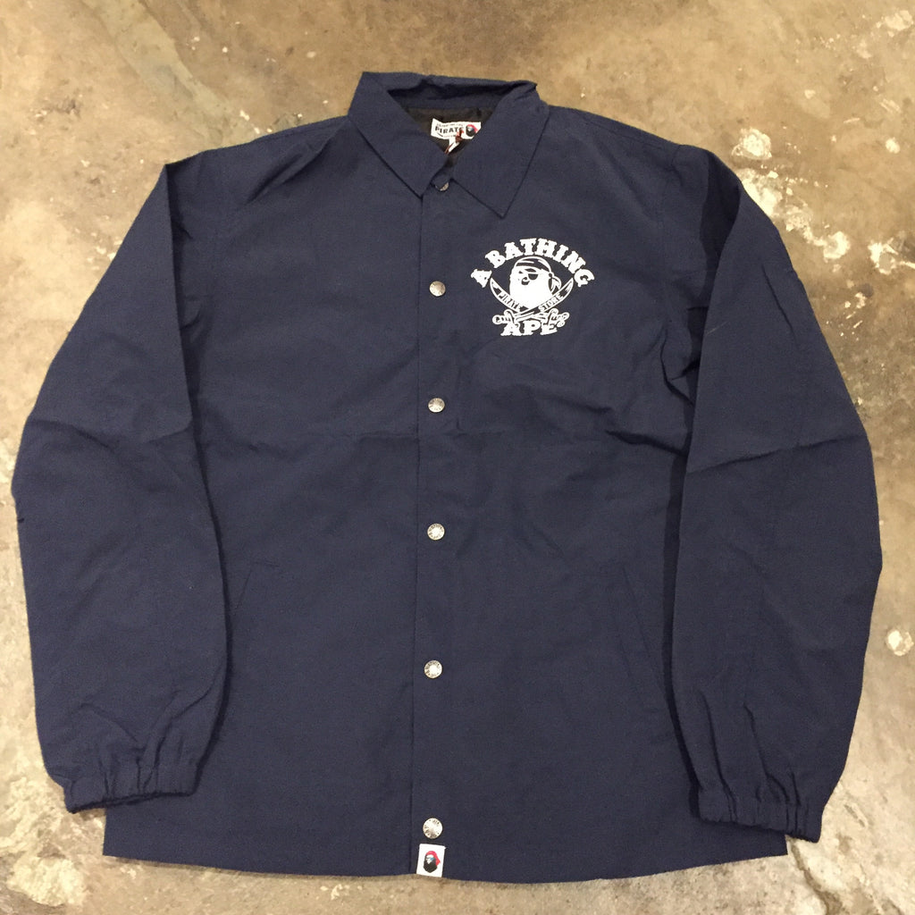 Bape Pirate Store Coaches Jacket Navy - Exhibit A