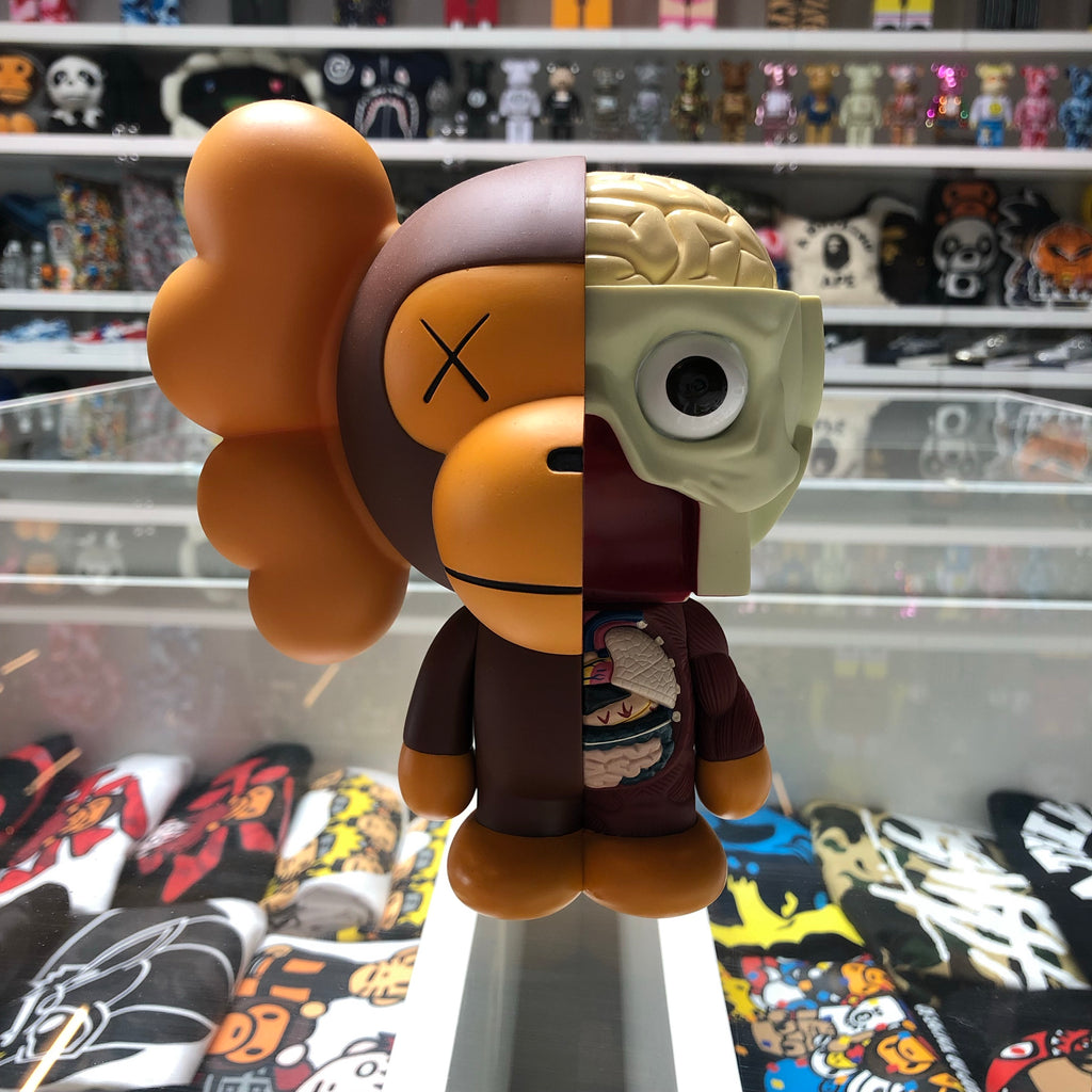 Bape x KAWS Dissected Milo Vinyl Figure Brown - Exhibit A