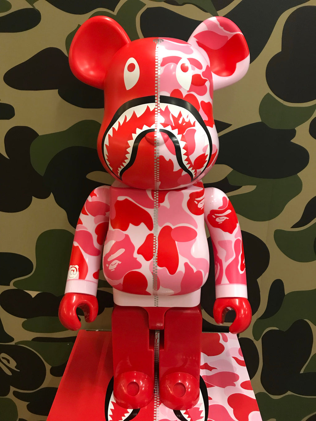 Bape ABC Camo Shark 1000% Bearbrick Pink - Exhibit A