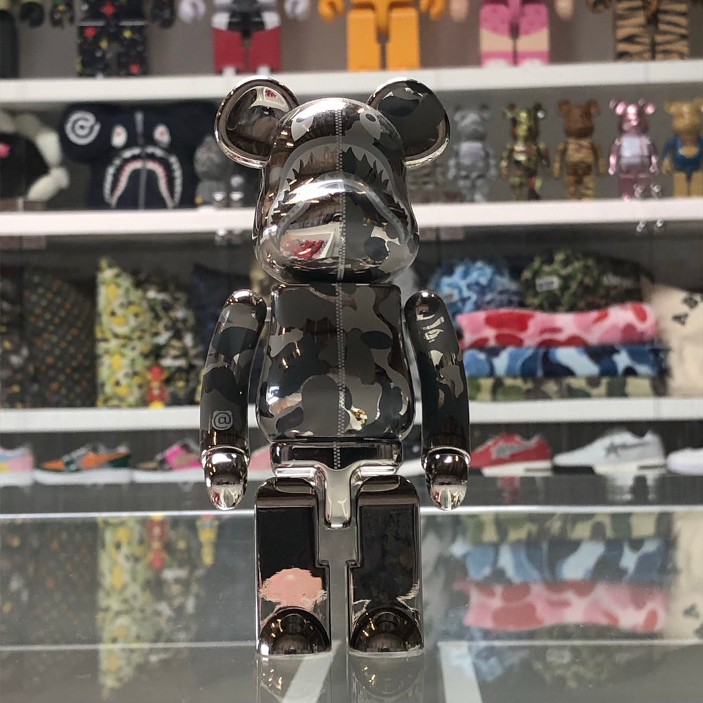 Bape Shark Superalloy 200% Bearbrick Silver - Exhibit A