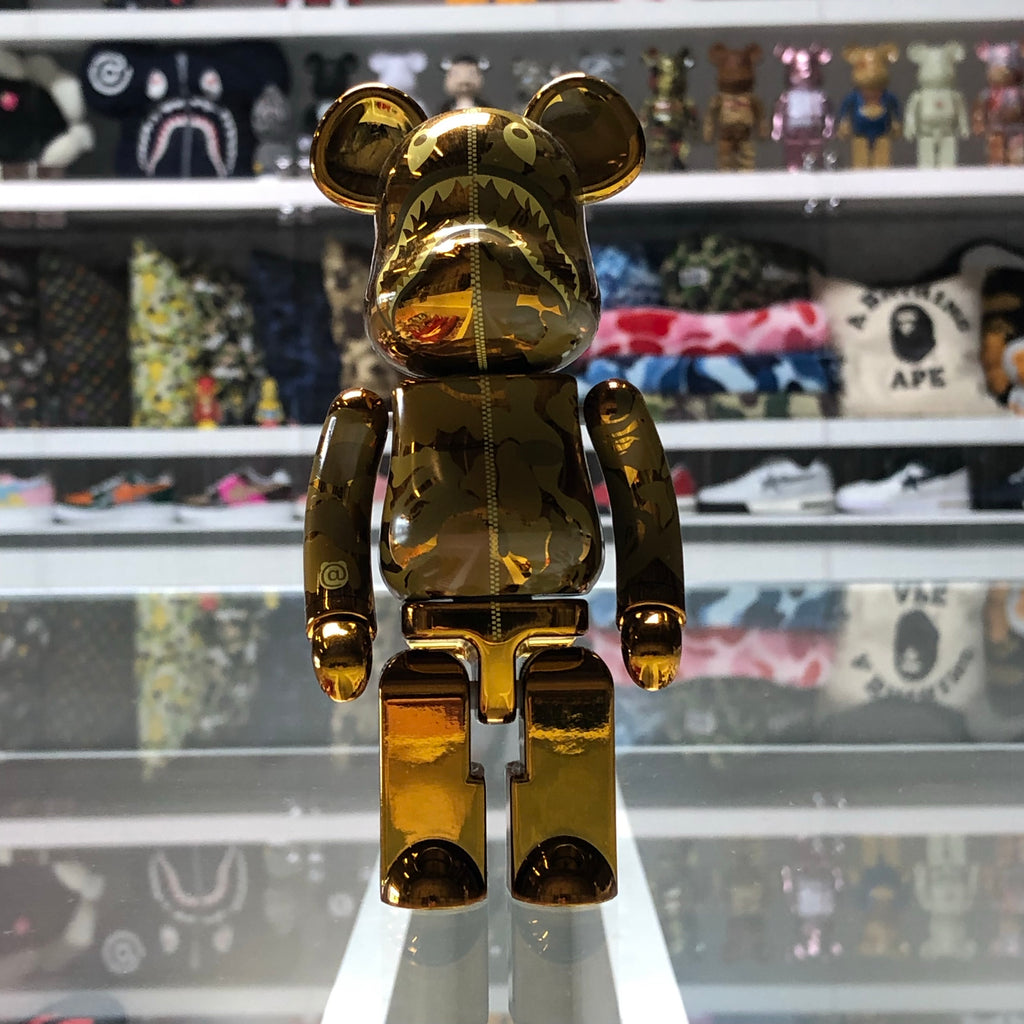 Bape Shark Superalloy 200% Bearbrick Gold - Exhibit A