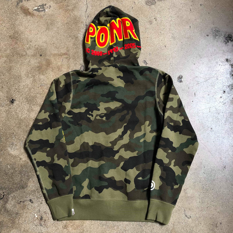 Woodland Camo PONR Shark Hoodie Green - Exhibit A