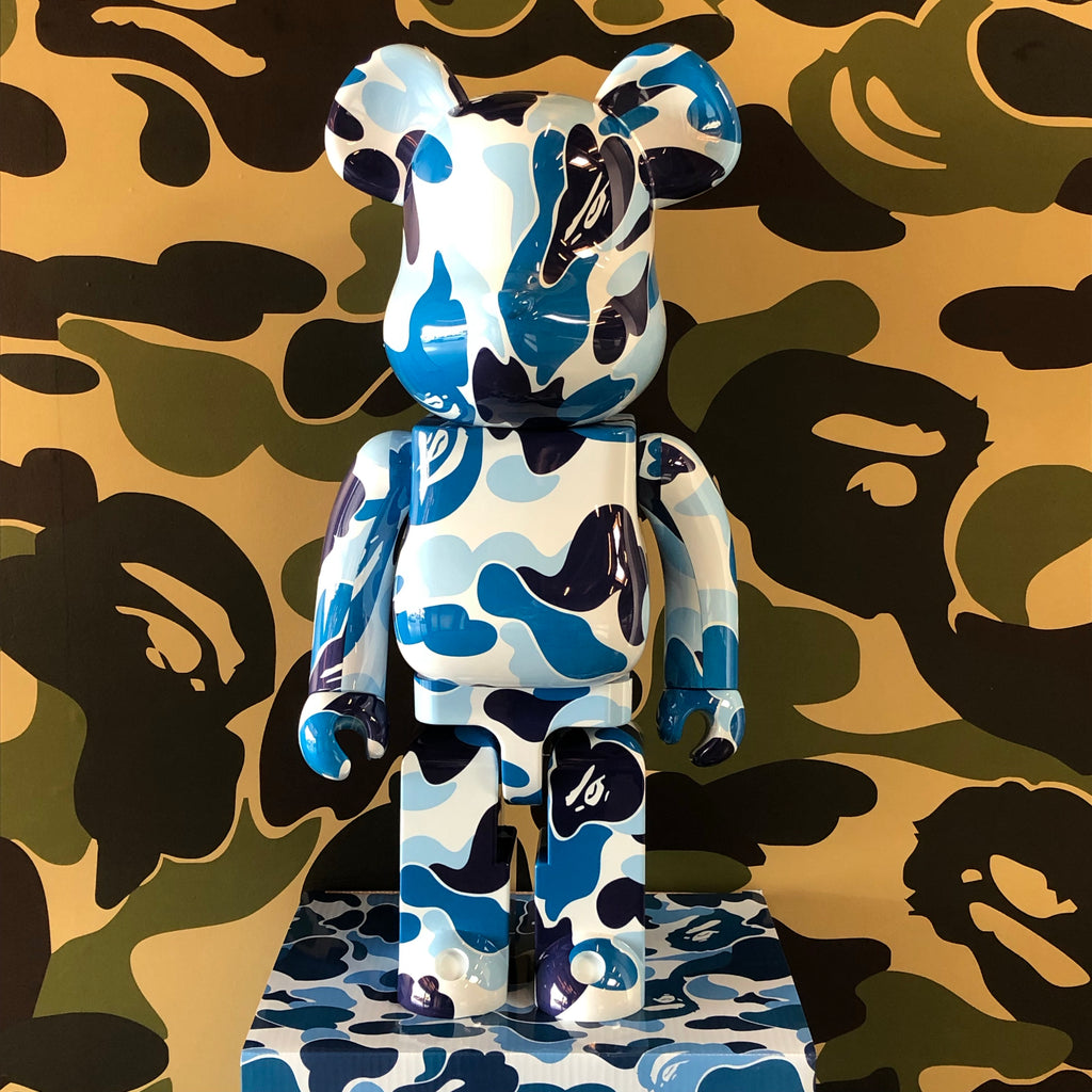 Bape ABC Camo 1000% Bearbrick Blue - Exhibit A