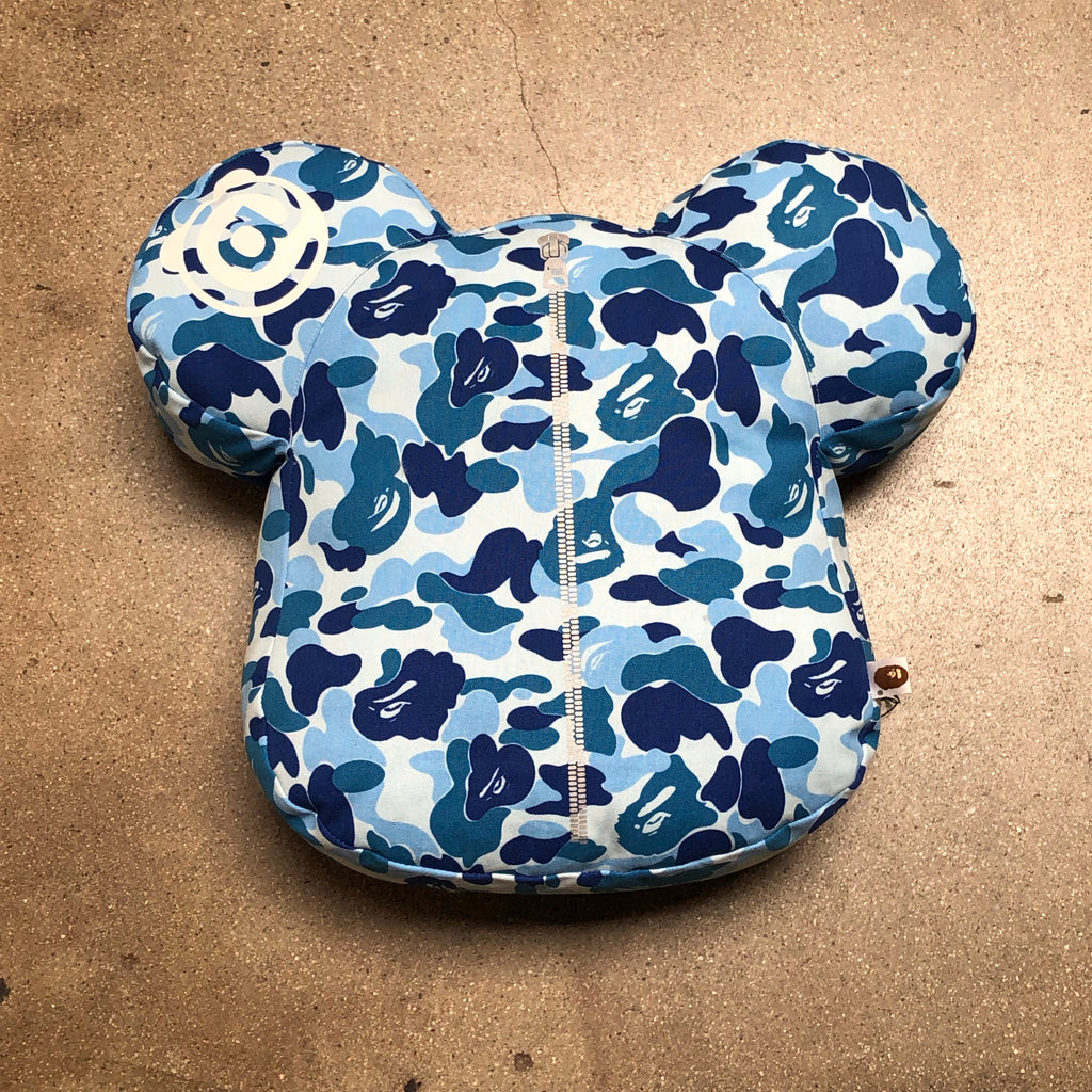 Bape ABC Camo Bearbrick Cushion Blue - Exhibit A