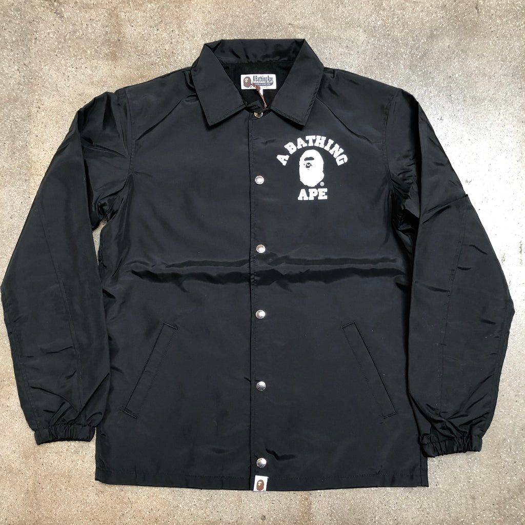 Bape College Coaches Jacket Black - Exhibit A