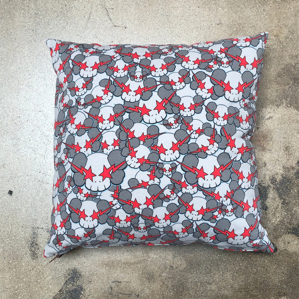 Bape x KAWS Skulls Cushion Grey
