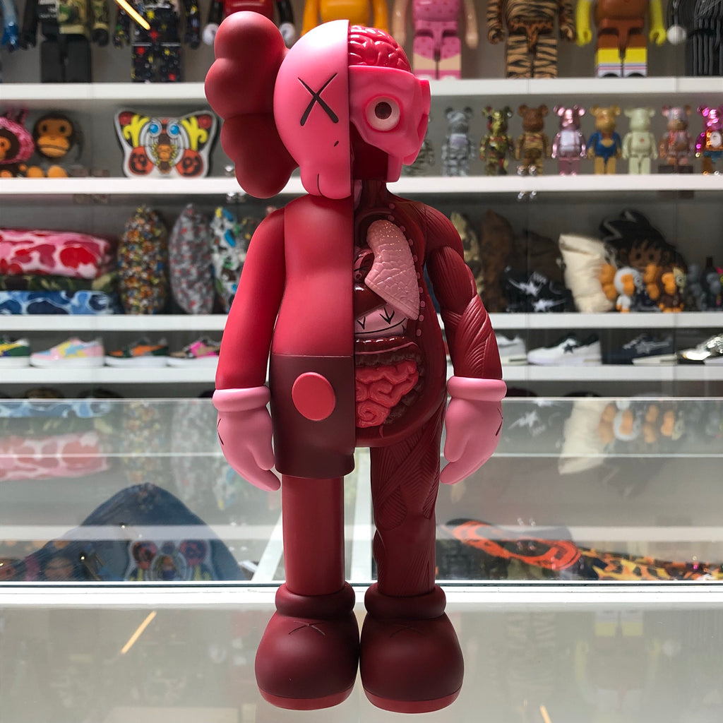 KAWS Companion Flayed Open Edition Vinyl Figure Red - Exhibit A