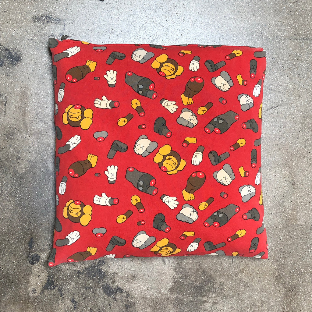 Bape x KAWS Chopped Body Parts Cushion Red